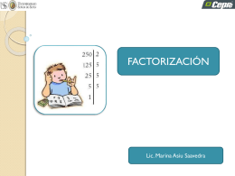Factorizacion - Blogs de Docentes USS
