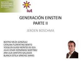 GENERACIÓN EINSTEIN