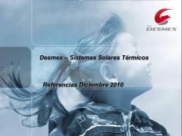 Grupo DESMEX Instalaciones Solar Térmica