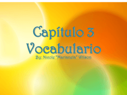 Chapter 3 Vocabulary - Clasedesenoranewman