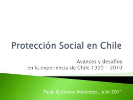 Derechos sociales y Protección Social.