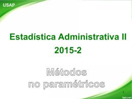 Métodos no paramétricos: Datos ordenados