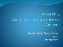 Tarea N° 3 Corriente eléctrica y ley de Ampere