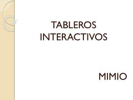 TABLEROS INTERACTIVOS