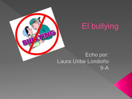 El bullying - LauraUribe1