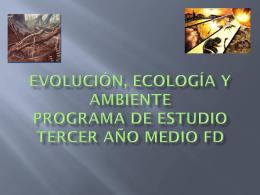 Evolución, Ecología y Ambiente Programa de