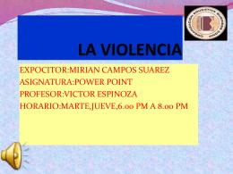 LA VIOLENCIA.