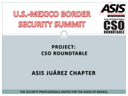 The state of Security between US-Mexico border