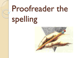 Proofreader the spelling (175712)