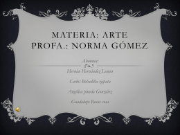 Materia: arte Profa.: Norma Gómez