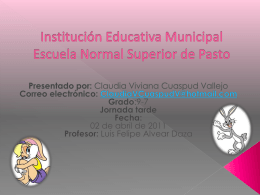 Institución Educativa Municipal Escuela Normal Superior