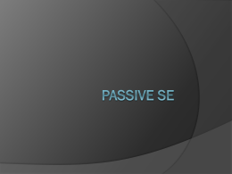 Passive se Realia