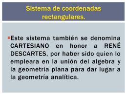 Sistema de coordenadas rectangulares. (EJE Y)