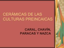 cerámicas de las culturas preincaicas