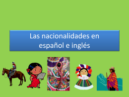 Las nacionalidades spanish and english