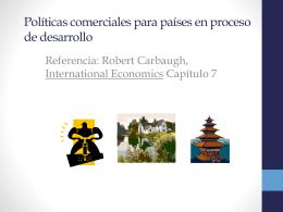 Capítulo 8: Políticas comerciales para países en proceso de desarrollo