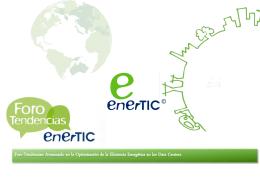 línea gráfica del Foro y el logo de enerTIC