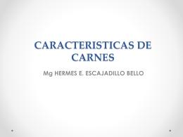 CARACTERISITCAS DE CARNES.