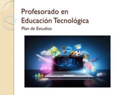 Profesorado en Educación Tecnológica
