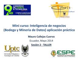 Minicurso IN-ESPE 2014 – Sesion 2 – Taller