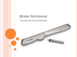 Mimio Notebook Ventajas de la herramienta