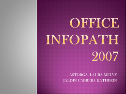 OFFICE INFOPATH 2007 diapositivas