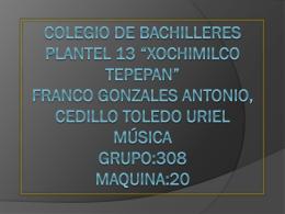 Colegio de bachilleres plantel 13 *Xochimilco tepepan*