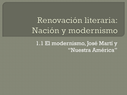 Renovación literaria: Nación y modernismo - spn3332-Intro-LA-Lit