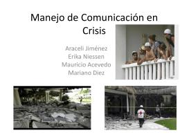 Manejo de Comunicación en Crisis Mariano Diez