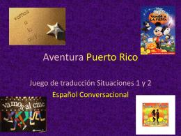 Juego de traduccion Situaciones 1 y 2