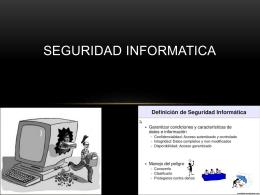 SEGURIDAD INFORMATICA - itmredesAlvaroAguirre