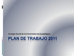 Plan de trabajo 2011 2012 - Universidad de Guadalajara