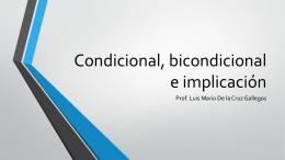Condicional, bicondicional e implicación