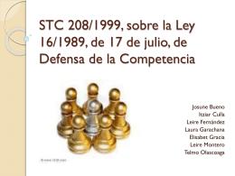 STC 208/1999, sobre la Ley 16/1989, de 17 de julio, de Defensa de
