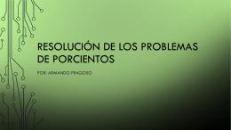 Resolución de los problemas de porcientos