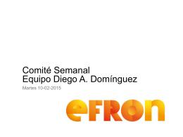 Comité Semanal Equipo Diego A. Domínguez