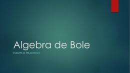 Algebra de Bole
