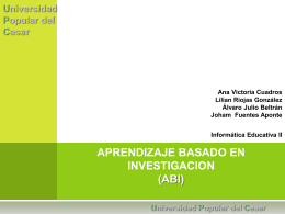 APRENDIZAJE BASADO EN INVESTIGACION