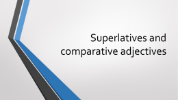 Superlatives-and-comparative