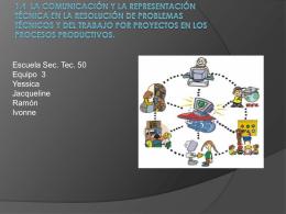 1.4 La comunicación y la representación técnica en la resolución de