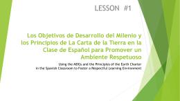 Las Principales de La Carta de La Tierra y La Clase de Español