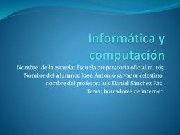 Informática y computación - informatica