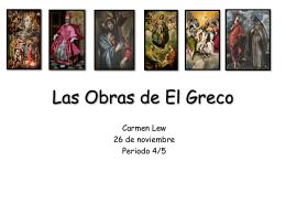 Las Obras de El Greco - nqhs-spanish4H