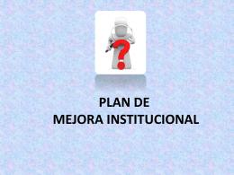 Plan de Mejora Institucional FINAL - Capacitacion2010-2011
