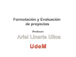 Diapositiva 1 - Msc. Ariel Linarte