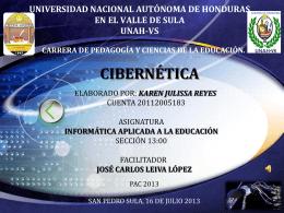 Presententacion CIBERNETICA - informaticaeducativaunah-vs