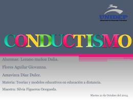 Exposición Conductismo - Educadoras del 4 cuatrimestre