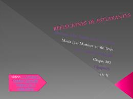 REFLECIONES DE ESTUDIANTES