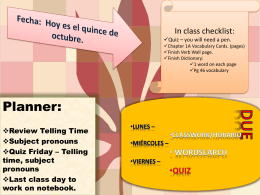 Lunes - msdaltonsspanishclass