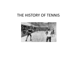 THE TENNIS - Colegio Madre de Dios
